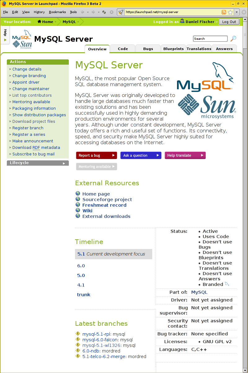 MySQL :: Getting started with Bazaar for MySQL code