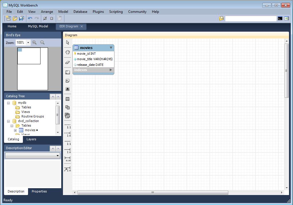 mysql er diagrams tutorial    mysql       mysql    workbench 4 1 creating a model     mysql       mysql    workbench 4 1 creating a model