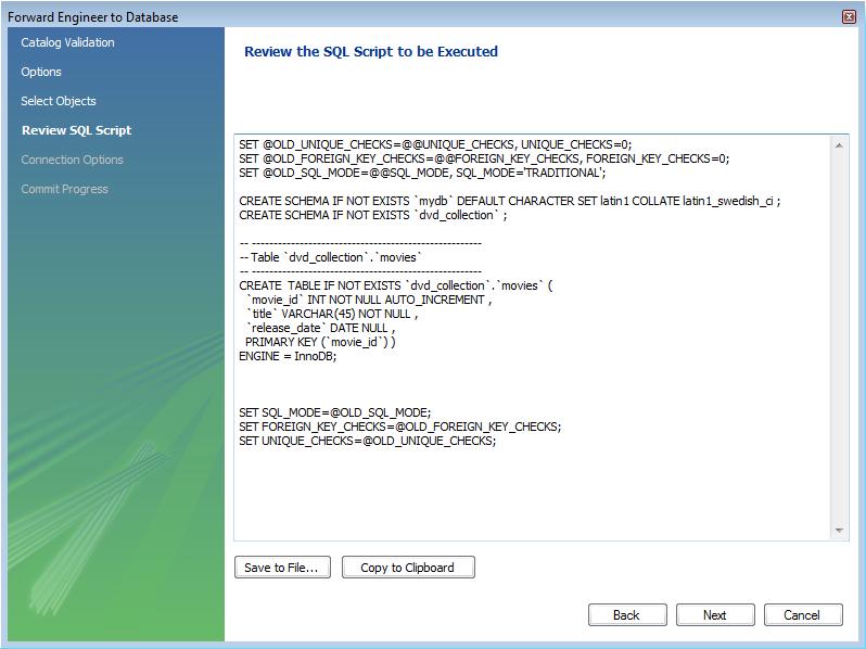 MySQL :: MySQL Workbench :: 4 1 Creating a Model