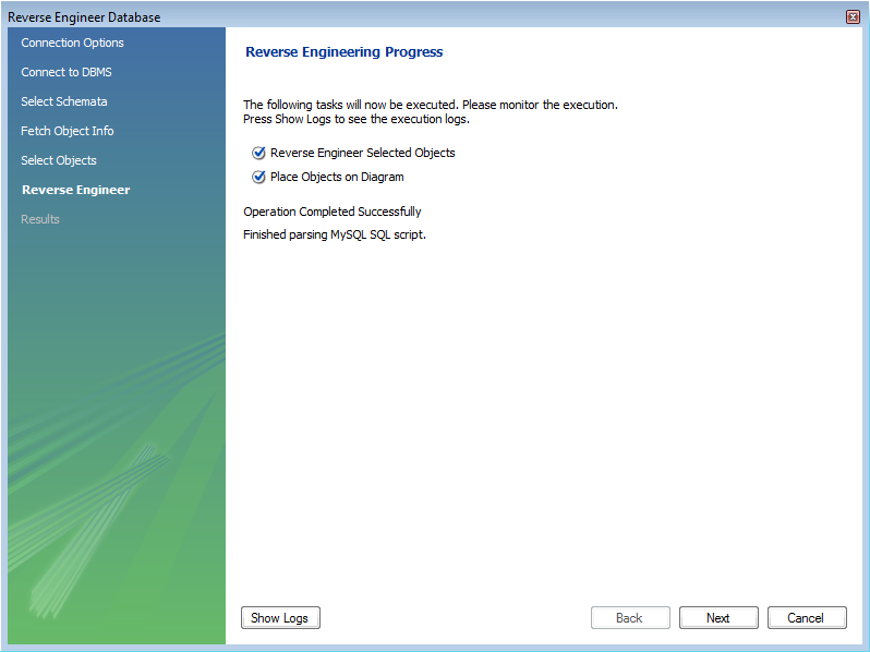 MySQL :: MySQL Workbench :: 7 5 9 2 Reverse Engineering a