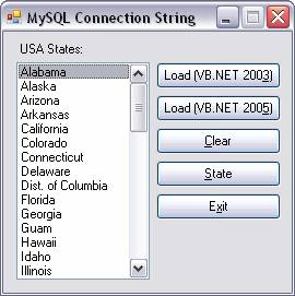MySQL :: Define and Store MySQL ADO Connection String in VB